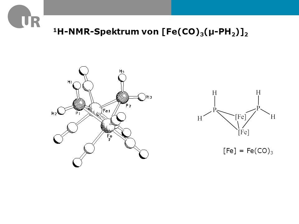 1H-NMR-Spektrum von [Fe(CO)3(µ-PH2)]2